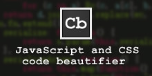 Chrome 代码高亮扩展 - JavaScript and CSS Code Beautifier